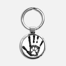 Lobo Paw Print Round Keychain