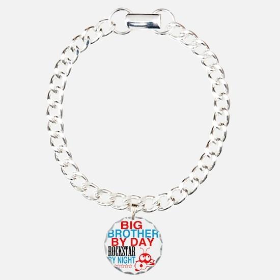 Big Brother by Day, Rock Charm Bracelet, One Charm