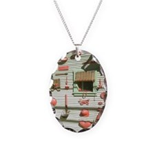 Bisbee Red Art Wall Shower Cur Necklace
