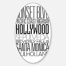 I Love LA Sticker (Oval)