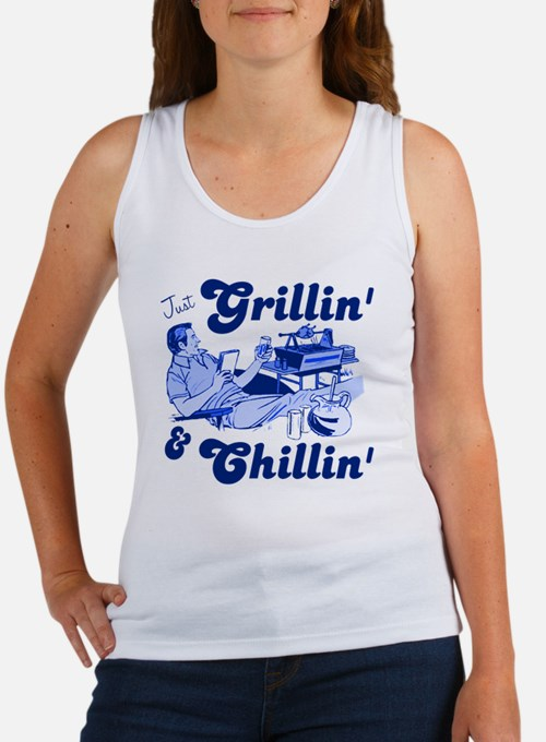 Just Grilling and Chilling Women's Tank Top