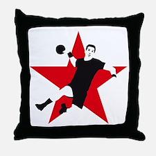 handball player star Throw Pillow