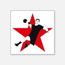 "handball player star Square Sticker 3"" x 3"""