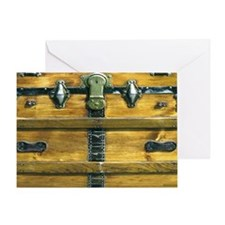 Steamer Trunk Shoulder Bag Greeting Card