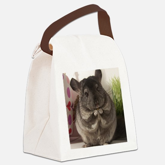 lovely chinchilla Canvas Lunch Bag