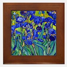 Btn VG Irises 89 Framed Tile