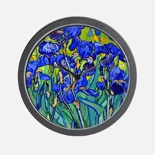 Btn VG Irises 89 Wall Clock