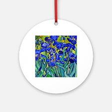 Btn VG Irises 89 Round Ornament