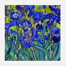 Btn VG Irises 89 Tile Coaster