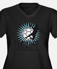 handball Women's Plus Size Dark V-Neck T-Shirt