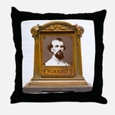 Nathan B. Forrest Antique Memorial Throw Pillow