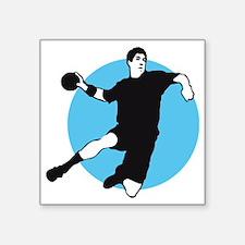 "handball player Square Sticker 3"" x 3"""