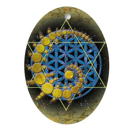 Divine Awakening Card Oval Ornament