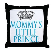 Mommys Little Prince Throw Pillow