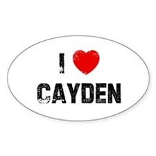 I * Cayden Oval Decal