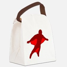 Wingsuit Silhouette 2 Red Canvas Lunch Bag