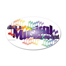 Life is a Musical II 35x21 Oval Wall Decal