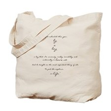 by a boy poem Tote Bag