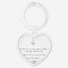 by a boy poem Heart Keychain