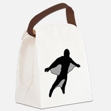 Wingsuit Silhouette 2 Black Canvas Lunch Bag