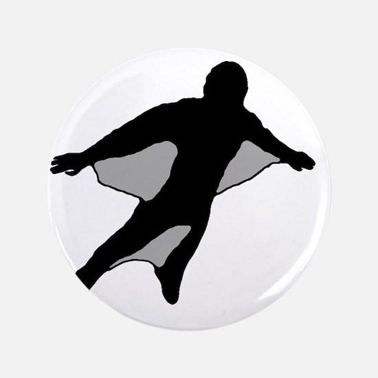 "Wingsuit Silhouette 2 Black 3.5"" Button"