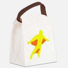 Wingsuit Silhouette 2 Yellow Canvas Lunch Bag