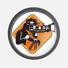 film crew cameraman shooting filming ca Wall Clock