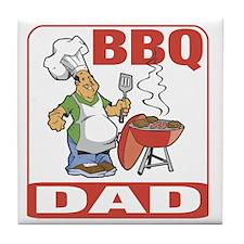 BBQ Dad Tile Coaster