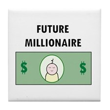 FUTURE MILLIIONAIRE Tile Coaster BABY SHOWER GIFT