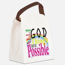 All Things Are Possible Canvas Lunch Bag