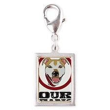 Our Gang Pet Services Logo Silver Portrait Charm