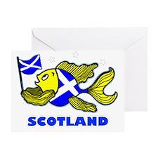 Scotland Fish, Fabspark Greeting Card