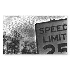 Speed Limit Rectangle Decal