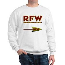 Redskins Fans Wanted Logo Sweatshirt