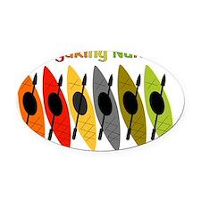 Kayaking Nurse Oval Car Magnet