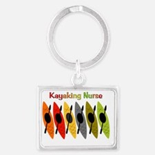 Kayaking Nurse Landscape Keychain