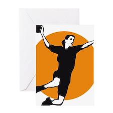 female handball player Greeting Card