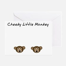 Cheeky Little Monkey Greeting Card