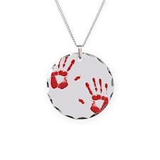 Bloody ZOmbie handprints Necklace