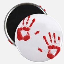 Bloody ZOmbie handprints Magnet