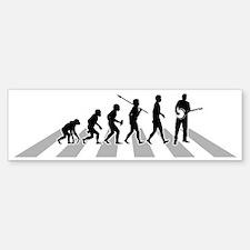 Banjo-Player-B Sticker (Bumper)