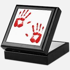 Bloody ZOmbie handprints Keepsake Box