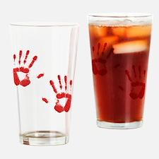 Bloody ZOmbie handprints Drinking Glass