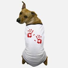Bloody ZOmbie handprints Dog T-Shirt