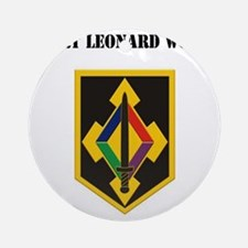Fort Leonard Wood with Text Round Ornament