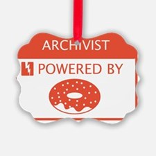 Archivist Powered by Doughnuts Ornament