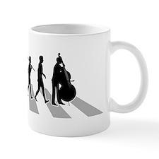 Double-Bass-Player-B Small Mugs