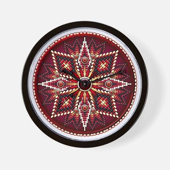 Native American Rosette 14 Wall Clock