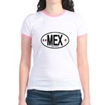 Mexico Euro-style Country Code Jr. Ringer T-Shirt