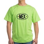 Mexico Euro-style Country Code Green T-Shirt
